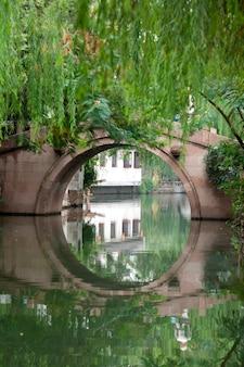 Pont sur le canal, zhouzhuang, province du jiangsu, chine