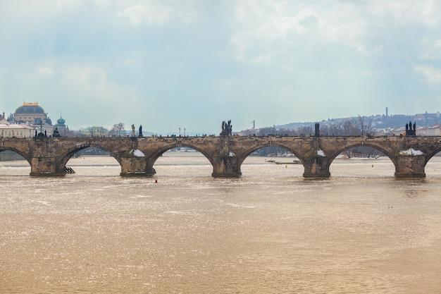 Pont charles à prague, vue panoramique