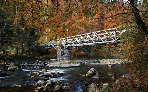 Pont gris au-dessus de l'eau