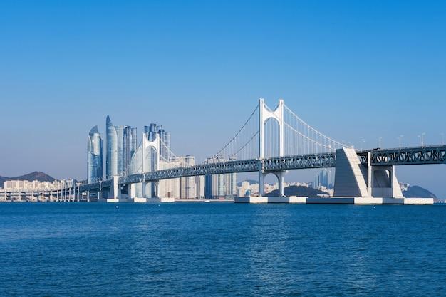 Pont gwangan et haeundae à busan, corée