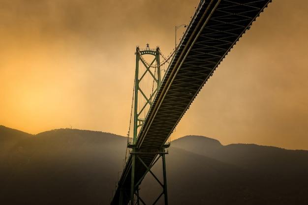 Pont lions gate à vancouver, canada