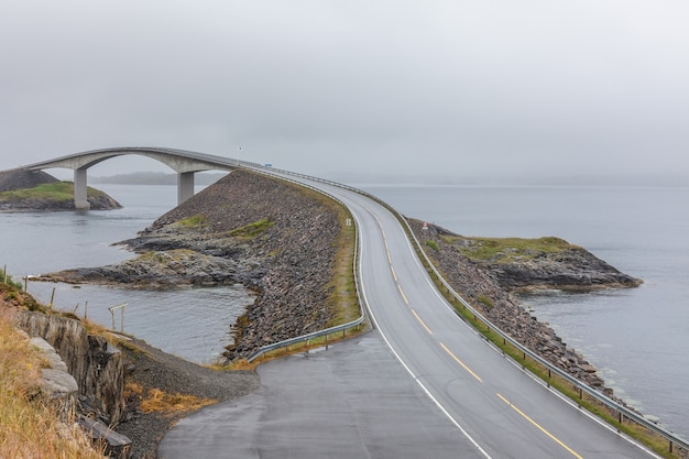 Pont de la norvège, bord de mer atlantique
