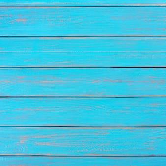 Pont de plage d'été en bois bleu vif