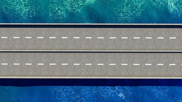Pont sur le rendu 3d de l'océan