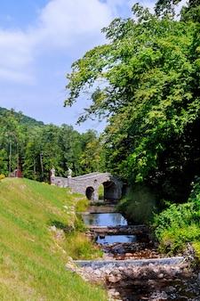 Pont sur une rivière rapide