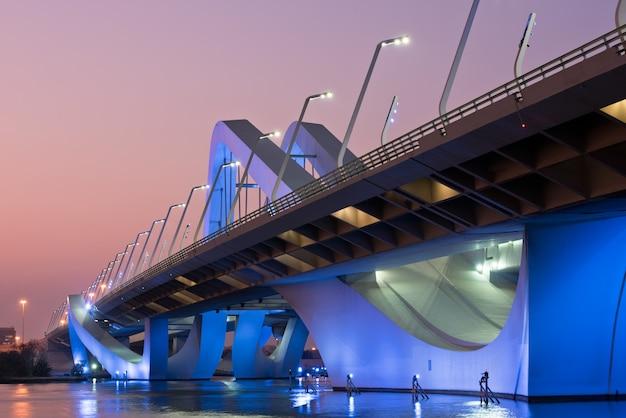 Pont sheikh zayed, abu dhabi, émirats arabes unis