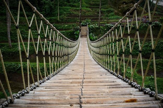 Pont suspendu, vue intérieure centrale.