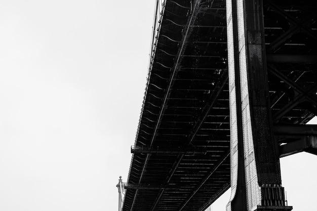 Pont Traversant Une Rivière En Gros Plan Photo Premium