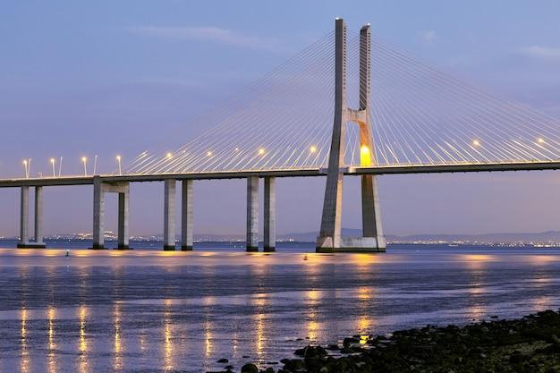 Pont vasco da gama à lisbonne portugal