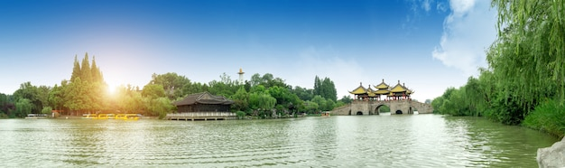 Pont de yangzhou sur le lac occidental mince wuting