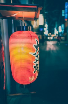 Pontocho alley, kyoto, japon - vintage tone.
