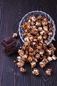 Popcorn au chocolat sucré