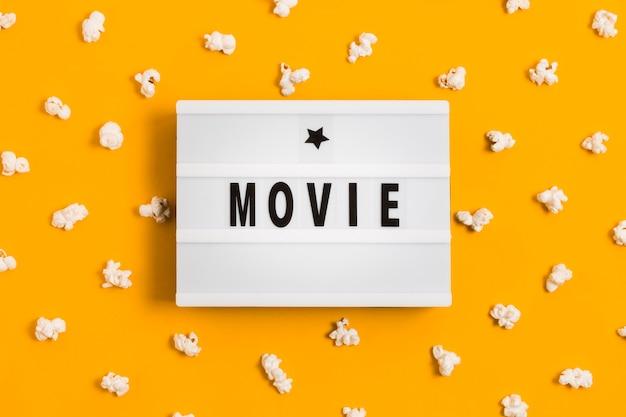 Popcorn pour l'heure du film