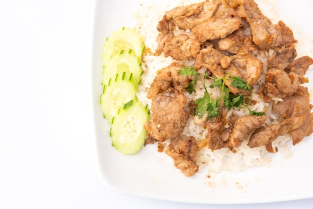 Porc frit avec riz