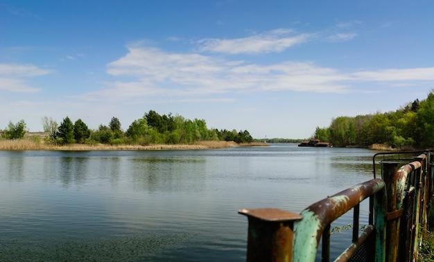 Port fluvial de pripyat europe de l'est, pripyat, ukraine
