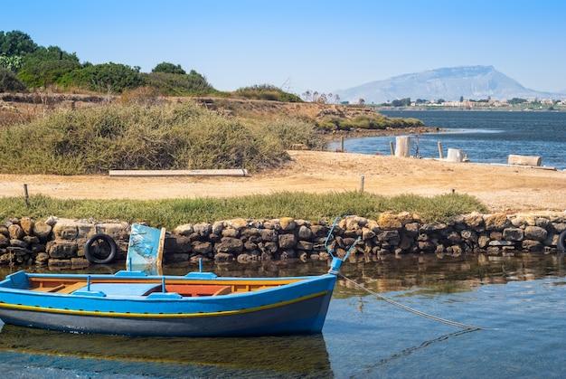 Port de mozia, dans les marais salants de marsala