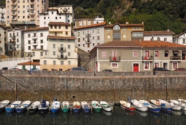 Port de pêche d'elantxobe; pays basque; espagne;