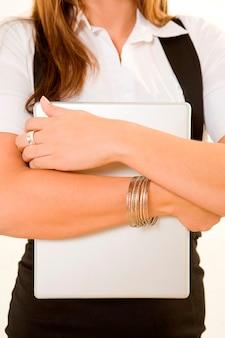 Portable, tenue femme affaires, midsection
