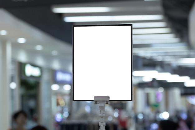 Porte-affiche blanc maquette