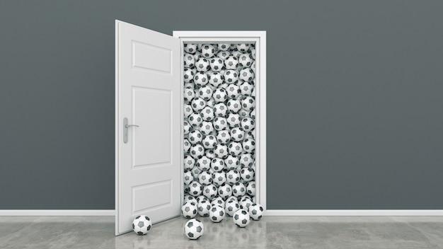 Porte avec ballon de foot