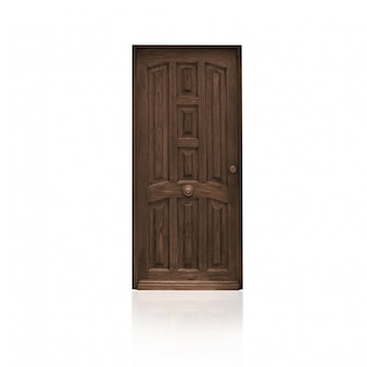 Porte en bois brown