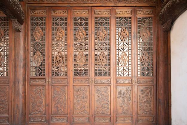 Porte en bois chinoise