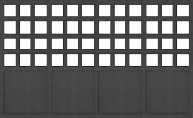 Porte en bois foncé japonais mur texture design fond.