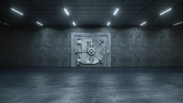 Porte de chambre forte en banque
