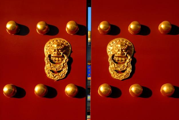 Porte chinoise emblématique, pékin, chine.