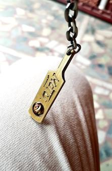 Porte-clés avec batte de cricket mise au point sélective