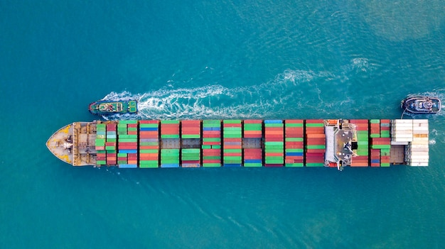 Porte-conteneurs ou cargo dans l'import export