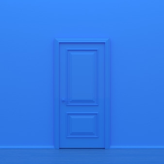Porte fermée bleue