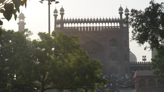Porte jama masjid à delhi, inde
