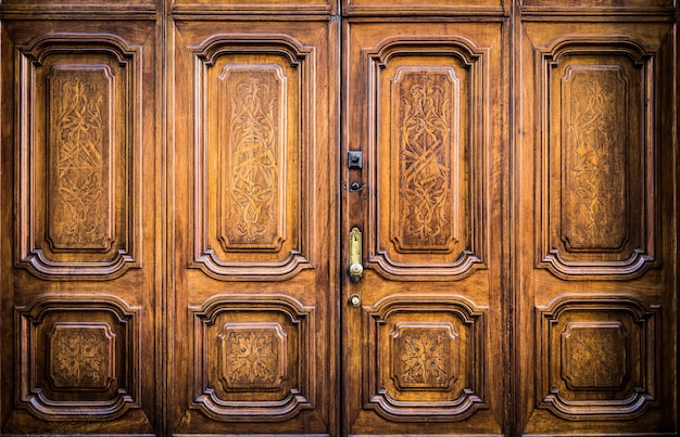 Porte originale de franc-maçonnerie en italie - porte authentique, plus de 200 ans
