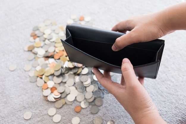 Portefeuille sans argent et sans fond