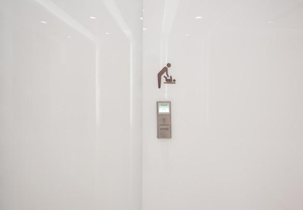 Portes automatiques modernes pour salles de bains pour mères et enfants dans les centres commerciaux