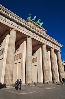 Portes de brandebourg à berlin, allemagne