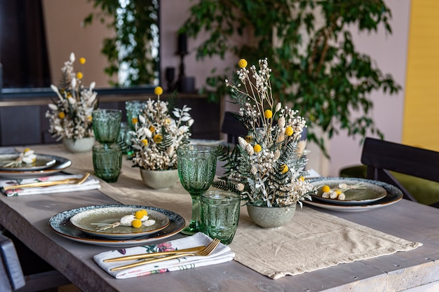 Portion originale de la table des fêtes