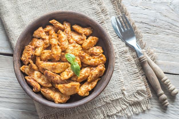 Portion de poulet au beurre