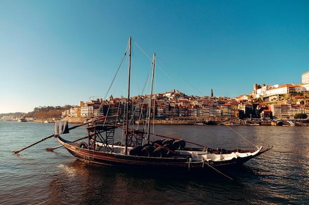 Porto vieux bateaux emblématiques appelés moliceiros