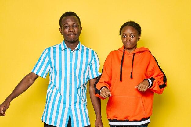 Portrait, africaine, couple
