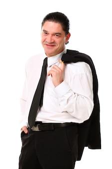 Portrait, de, age moyen, homme affaires