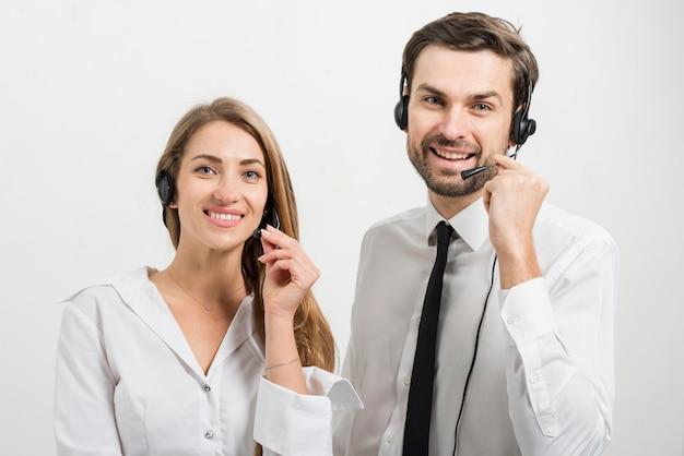 Portrait d'agents de centres d'appels