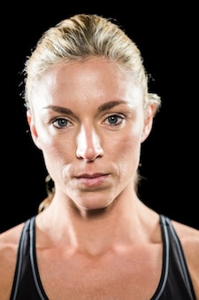 Portrait d'athlète féminine