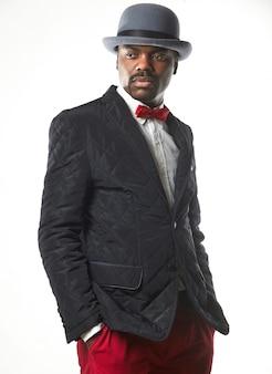Portrait, de, beau, homme noir
