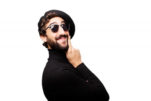 Portrait beauté doute penser barbe