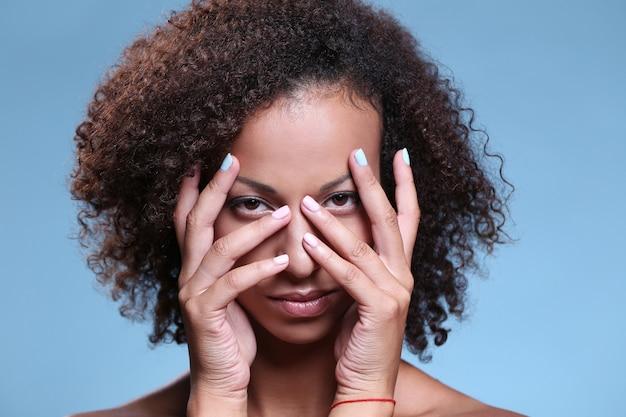 Portrait de beauté, maquillage