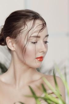 Portrait de belle femme