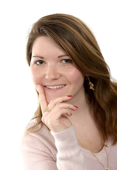 Portrait d'une belle jeune fille