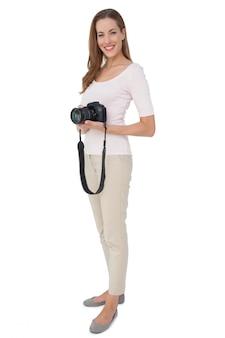 Portrait d'une belle photographe